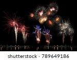 festive fireworks colorful... | Shutterstock . vector #789649186