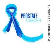 prostate cancer awareness ribbon | Shutterstock .eps vector #789650146