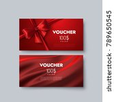 gift voucher templates. set of... | Shutterstock .eps vector #789650545