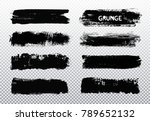 vector paint brush strokes... | Shutterstock .eps vector #789652132