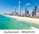 surfers paradise aerial view on ... | Shutterstock . vector #789655192