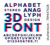 stereoscopic stereo 3d vector...   Shutterstock .eps vector #789657628