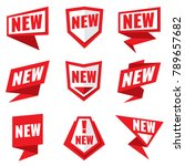 new product status vector... | Shutterstock .eps vector #789657682