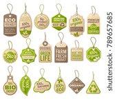vintage cardboard eco price... | Shutterstock .eps vector #789657685