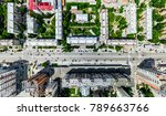 aerial city view with... | Shutterstock . vector #789663766
