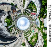 aerial city view with... | Shutterstock . vector #789663772