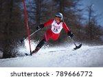 sestriere  italy   february 14  ... | Shutterstock . vector #789666772
