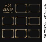 set of art deco borders and... | Shutterstock .eps vector #789667936