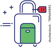 wheeled luggage vector icon for ... | Shutterstock .eps vector #789669892
