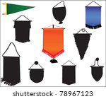 pennants vector | Shutterstock .eps vector #78967123