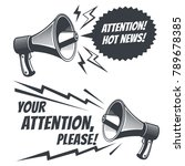 attention please vector symbols ... | Shutterstock .eps vector #789678385