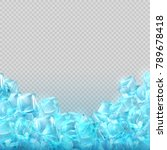 realistic ice cubes isolated on ... | Shutterstock .eps vector #789678418