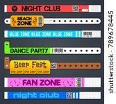 zone entrance bracelets... | Shutterstock .eps vector #789678445