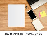 white template paper with... | Shutterstock . vector #789679438