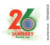 republic day  26 january  | Shutterstock .eps vector #789680818
