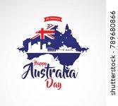 happy australia day vector... | Shutterstock .eps vector #789680866