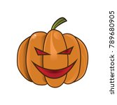 halloween lantern icon isolated | Shutterstock .eps vector #789680905