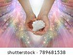 sacred cross crystal specimen   ...   Shutterstock . vector #789681538