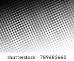 distressed halftone background. ... | Shutterstock .eps vector #789683662