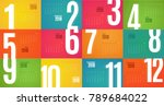 wall monthly calendar for the... | Shutterstock .eps vector #789684022
