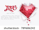 little heart falling through... | Shutterstock .eps vector #789686242
