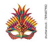 carnival mask. vector... | Shutterstock .eps vector #789687982