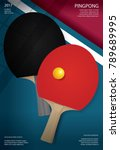 pingpong poster template vector ... | Shutterstock .eps vector #789689995