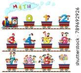kids in number train   Shutterstock .eps vector #789692926