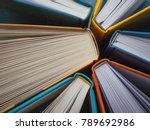 the spines of books. the view...   Shutterstock . vector #789692986