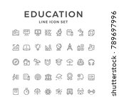 set line icons of education | Shutterstock .eps vector #789697996