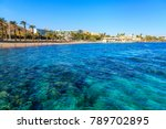 view of a beach in eilat  israel | Shutterstock . vector #789702895