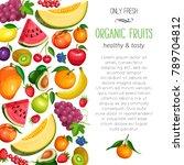 vector berries and fruits... | Shutterstock .eps vector #789704812