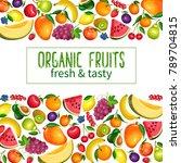 vector berries and fruits... | Shutterstock .eps vector #789704815