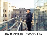 looking at a distant asian man... | Shutterstock . vector #789707542