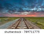 Vanishing Railroad On The...
