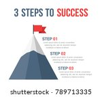 3 steps to success infographics ... | Shutterstock .eps vector #789713335
