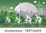 world environment day concept.... | Shutterstock .eps vector #789716455