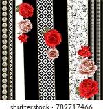 silk scarf design  fashion... | Shutterstock . vector #789717466