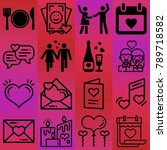 valentine's day vector icon set ... | Shutterstock .eps vector #789718582