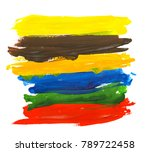 artistic colorful watercolor... | Shutterstock . vector #789722458