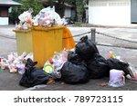 pile of garbage plastic black...   Shutterstock . vector #789723115