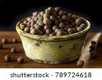 Allspice On Rustic Background