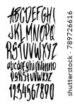 hand drawn alphabet in style... | Shutterstock .eps vector #789726616