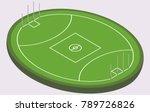 isometric field for australian... | Shutterstock .eps vector #789726826