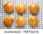 hot cheese stuffed rolls after... | Shutterstock . vector #789736276
