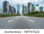 city road through modern... | Shutterstock . vector #789747622