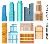 set of flat residential and...   Shutterstock .eps vector #789751672