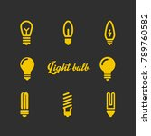 lamp light bulb outline vector... | Shutterstock .eps vector #789760582