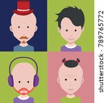 people icons in flat cartoon... | Shutterstock .eps vector #789765772