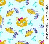 kids  original color drawings.... | Shutterstock .eps vector #789766366